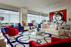 Red And Blue Living Room Red Blue And White Modern Living Room Interiors 1 Pinterest