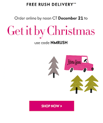 Neiman Marcus Free Rush Christmas Delivery  20 Off Friends  Online Gifts By Christmas