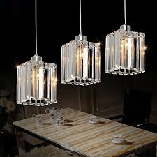 lightess com supplies lightess crystal cube pendant light contemporary luxury hanging ceiling chandelier lighting with