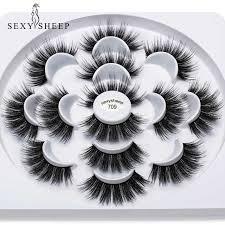 SEXYSHEEP <b>5Pairs 3D Faux</b> Mink eyelashes False Eyelashes ...