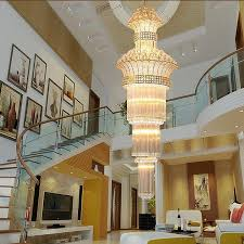 modern stairs long chandelier crystal chandelier floor staircase hall bedroom villa chandelier crystal chandelier chandelier lamp wrought iron