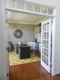 home office french doors. Modren Home Home Office Reveal  Our DIY Home Office Is Finished We Did Everything In  This Room Ourselves From The Hardwood Floors To Builtin Desk And  Inside French Doors P