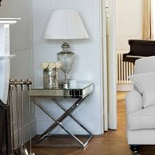 mirrored furniture room ideas. A Sparkle Mirrored Finished Side Table With Trendy Crossed Legs, Which Are All The Craze Right Now Adding Dimension And Style To Your Home. Furniture Room Ideas