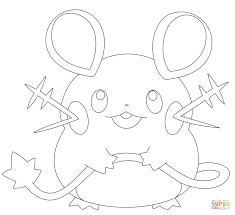 Dedenne Coloring Page Free Printable Coloring Pages