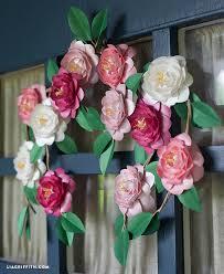 Homemade Paper Flower Decorations Diy Metallic Paper Camellias