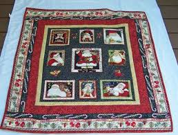 65 best Quilt borders images on Pinterest | Quilting ideas ... & Handmade Quilted Santas in Center Panel with Multiple Borders |  PutmanLakeDesigns - Quilts on ArtFire Adamdwight.com
