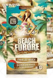 Tropic Beach Summer Party Flyer Template Summer Beach Party Flyer