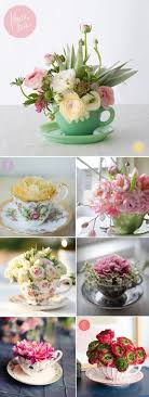 Decorating With Teacups And Saucers 60 best Teacup Flowers images on Pinterest Floral arrangements 58