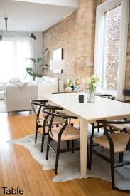 Wishbone Chair Cowhide Rugs Rug Under Kitchen Table The Everygirl Co  Founder Danielle Moss Chicago Apartment