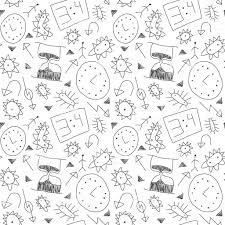 子供の図面のシームレスなパターン子供の絵背景落書き技術的な要素 歯車