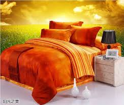 luxury 100 egyptian cotton designer orange brand bedding sets king queen size duvet cover sheets bedspreads bed in a bag quilt in bedding sets from home