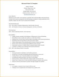 Resume Word Document Template - Nhtheatre.org