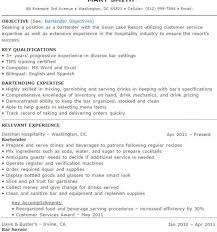 Bartender Resume Samples And