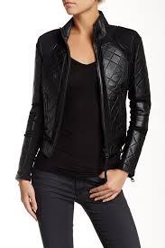 Blanc Noir Genuine Leather Moto Jacket Nordstrom Rack