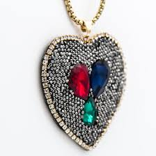 whole black rhinestone colorful crystal clay heart pendant chain necklace designer new fashion couture jewelry valentine gifts for women whole