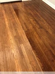 refinishing red oak hardwood floors adding stain to first coat of polyurethane to darken the