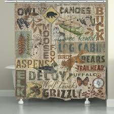 lodge shower curtain home rustic lodge words shower curtain inch x inch bacova guild mountain lodge