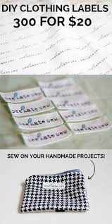Diy Clothing Label 300 Clothing Labels For 20 See Kate Sew