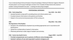 Cna Resume Samples Example Objective For Nursing Assistant Of