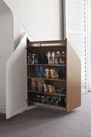 built in wall shoe rack bespoke wall storage