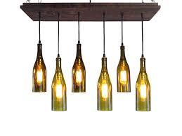 blue bottle chandelier wine rustic modern lighting within designs 3 beer