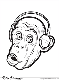 Small Picture Surprised chimp coloring page RetroColoring