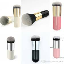 super cute new mini rounds of co powder powder bb cream blush makeup brush round head do not eat powder easy to carry makeup cases makeup set from