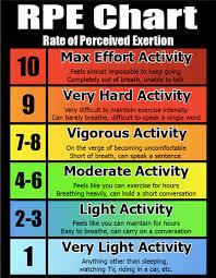 Rpe Chart Bfs Martial Arts Workout Chart Workout