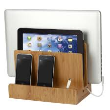 Charging Station Shelf Bamboo Multi Charger Station By Gus Shelvingcom