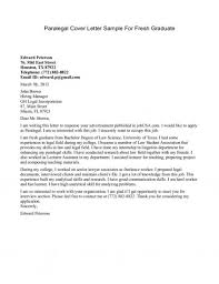 sample graduate cover letter free cover letter paralegal