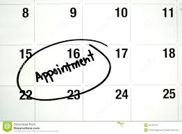 Appointment Calander Word Appointment Circled On Calendar Stock Photo Image Of Plans