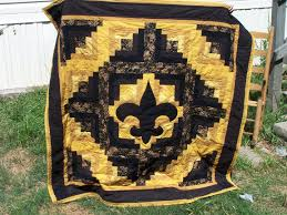 129 best College/NFL Quilts images on Pinterest | Beautiful, Black ... & Fleur De Lis quilt Adamdwight.com