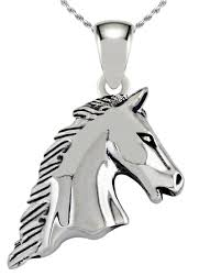 us jewels and gems 0 925 sterling silver 3d realistic horse head equestrian animal pendant necklace com