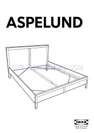IKEA Beds ASPELUND BED FRAME QUEEN Assembly Instruction free