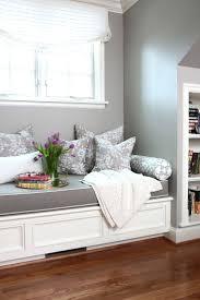 Dark Grey With Light Edge Binding Cushion A White Bench Kitchen