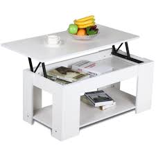 amazoncom yaheetech lifttop coffee table white kitchen  dining