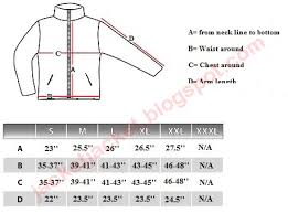 Crossland Soft Shell Jacket Size Chart Custom Logo