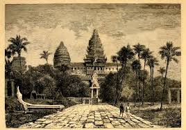 a drawing of angkor wat from may 15 1826 by henri mouhot a french naturalist