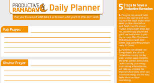 How To Plan A Schedule For The Month Of Ramadan