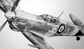 spitfire drawing. spitfire pencil drawing by johnnie johnson