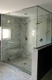 frameless shower enclosure with floor to ceiling panels