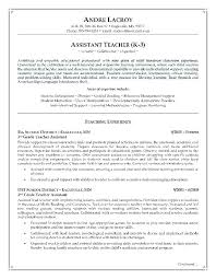 Sample Career Objective For Teachers Resume Special Education Teacher Resume Examples 100 Objective For 83