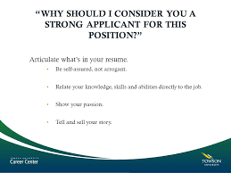 Interviewing Skills The Career Towson University Ppt Video Online