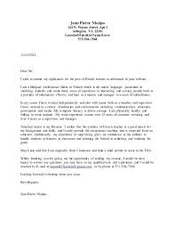 Cover Letter Template Teaching Position Cover Letter French Teacher