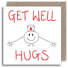 Get Well Card Funny Get Well Soon Card Humour Greeting Card Hugs Illustration Card Operation Recovery Card