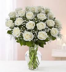 2 dozen white rose vase flowers from