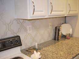 Kitchen Paint For The Kitchen Backsplash Use A Stencil And Paint In With An