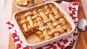 southern peach cobbler with pie crust. PecanPeach Cobbler With Southern Peach Pie Crust