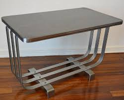 industrial age furniture. Art Deco Chrome Steel Coffee Side Table Machine Age 1930s Rhode? Deskey? Weber? Industrial Furniture N