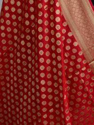 Small Buti Design Art Silk Dupatta Small Buti Design Red